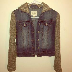 Jessica Simpson cropped jean jacket